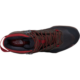 The North Face M's Hegehog Mid GTX Hiking Boots Demitasse Brown/Rudy Red